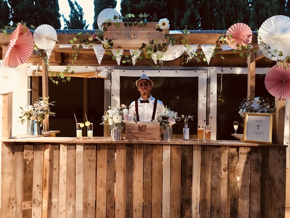 Bar à cocktail mixologiste mariage gard