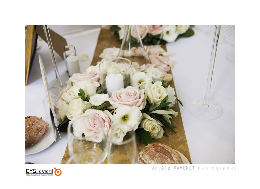 Decoration florale mariage glamour chic moderne CYS Event Nîmes