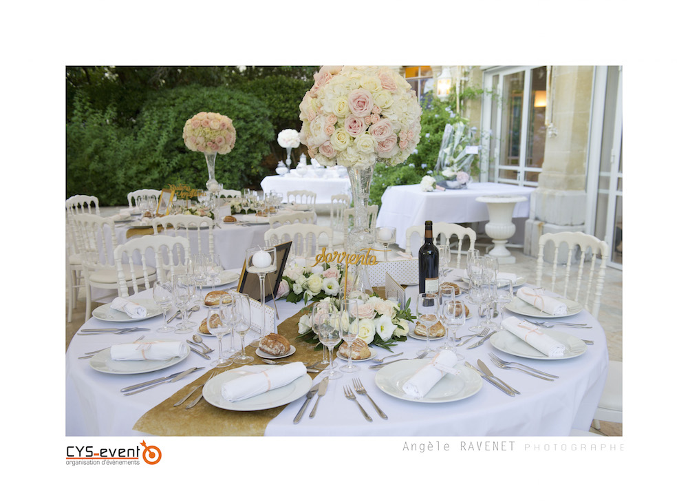 Decoration mariage glamour chic moderne CYS Event Nîmes