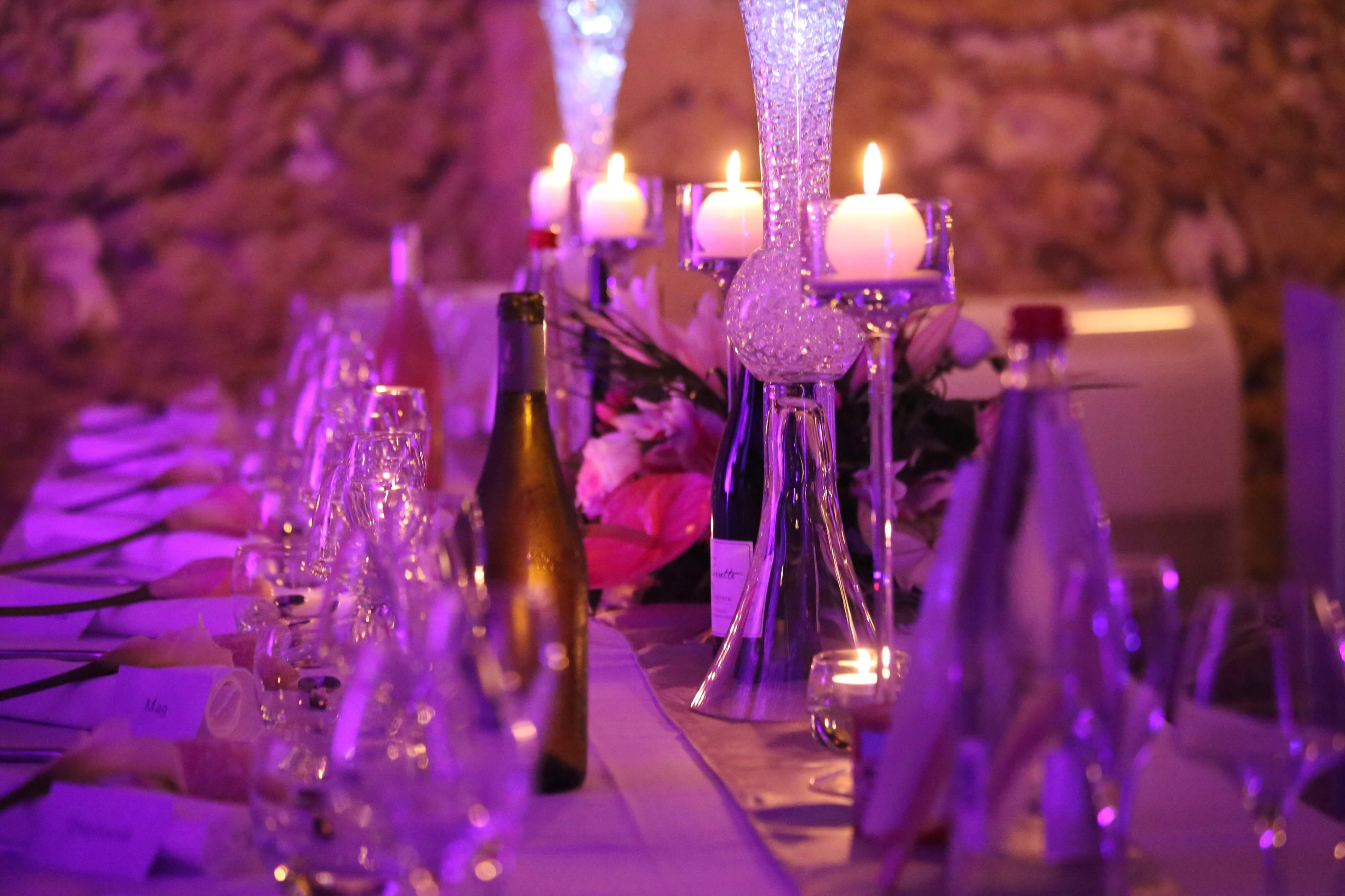Decoration mariage nîmes moderne glamour chic